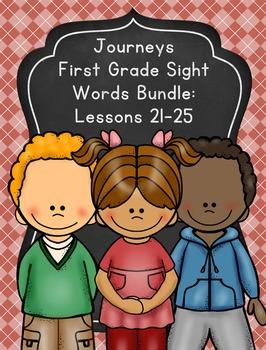 Journeys First Grade Sight Words Unit 5 Bundle