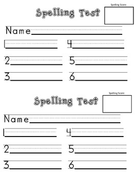 Spelling Forms - Great for Journeys and MANY other series!