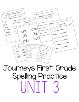 Journeys First Grade Spelling Practice - Unit 3