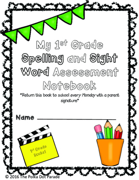 Journeys First Grade Spelling and Sight Word Assessment Da