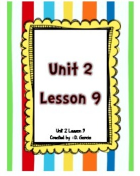 Journeys First Grade Unit 2 Lesson 9