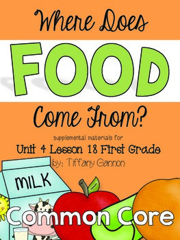 Journeys First Grade Unit 4 Lesson 18 Where Does Food Come From?