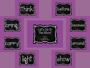 Journey's First Grade Unit 4: Sight Word PowerPoint Slideshows