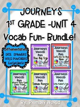 Journeys First Grade Unit 4 Vocab Fun- Bundle