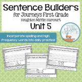 Journeys First Grade Unit 5 Lessons 21-25 Sentence Builders