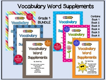Journeys First Grade Vocabulary Words BUNDLE-- ALL 30 UNITS!