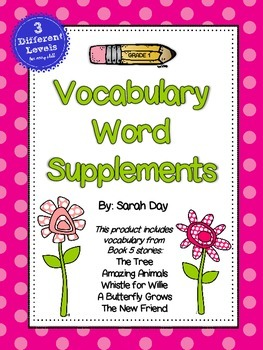 Journeys First Grade Vocabulary Words, Unit 5 DIFFERENTIATED