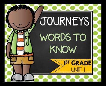 Journeys First Grade Words to Know Unit 1