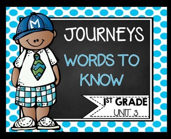 Journeys First Grade Words to Know Unit 3