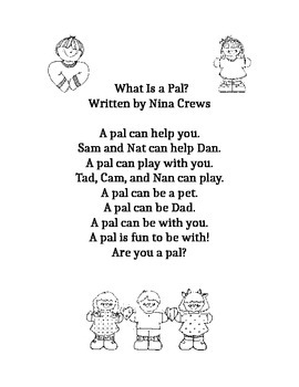 Journeys First Grade lesson 1 story, What is a Pal?
