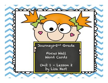Journeys Focus Wall Word Card--Unit 1: Lesson 2