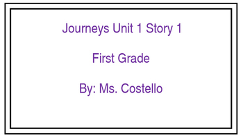 Journeys Focus Wall Cards Units 1-6 First Grade