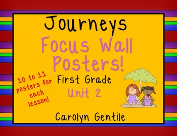 Journeys Focus Wall Posters Unit 2 First Grade