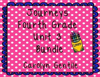 Journeys Fourth Grade Unit 3 Bundle 2012