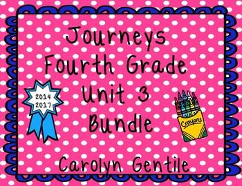 Journeys Fourth Grade Unit 3 Bundle 2014 2017