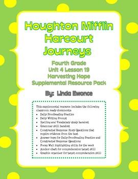 Journeys Fourth Grade  Unit 4 Lesson 19 - Harvesting Hope