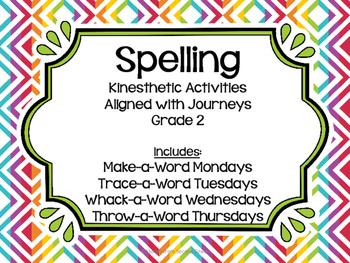 Journeys Grade 2 Spelling Activities