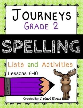 Journeys 2014 Grade 2 Spelling: Lessons 6-10