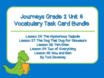 Journeys Grade 2 Unit 6 Vocabulary Task Card Bundle