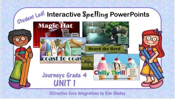 Journeys Grade 4 Interactive Spelling Unit 1 Lists 1 to 5