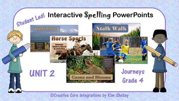 Journeys Grade 4 Interactive Spelling Unit 2 BUNDLE Lists 6 to 10