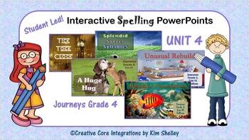 Journeys Grade 4 Interactive Spelling Unit 4 BUNDLE Lists