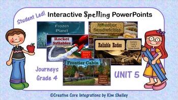 Journeys Grade 4 Interactive Spelling Unit 5 BUNDLE Lists