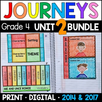 Journeys 4th Grade Unit 2 BUNDLE: Supplemental Materials w