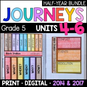 Journeys Grade 5 HALF-YEAR BUNDLE: Units 4-6 (Supplemental