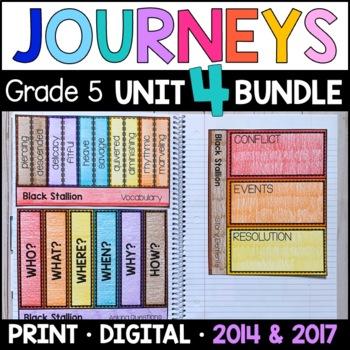 Journeys Grade 5 Unit 4 BUNDLE: Supplemental Materials wit