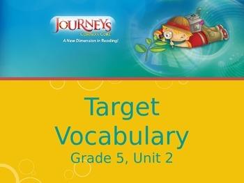 Journeys, Grade 5, Vocabulary in Context, Unit 2