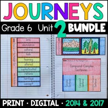 Journeys Grade 6 Unit 2 BUNDLE: Supplemental Materials wit