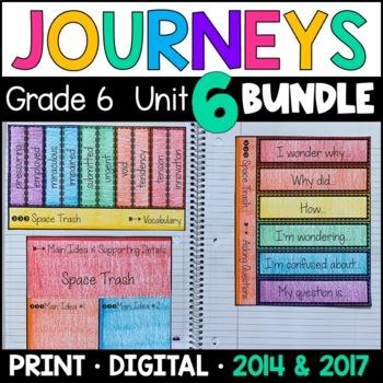 Journeys Grade 6 Unit 6 BUNDLE: Supplemental Materials wit