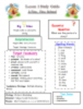 Journeys Grade Three Unit 2 Study Guides, Spelling Tests,