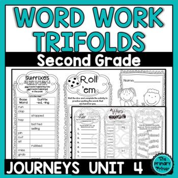 Journeys SECOND Grade Word Work Spelling Tri-folds: Unit FOUR