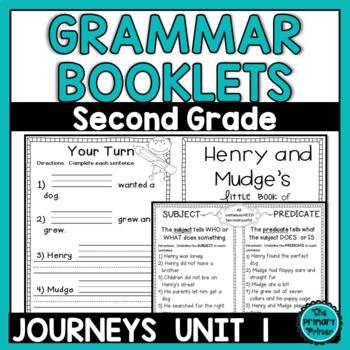 Journeys SECOND Grade Grammar Mini Books: Unit ONE