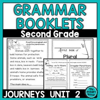 Journeys SECOND Grade  Grammar Mini Books: Unit TWO