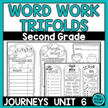 Journeys SECOND Grade Word Work Spelling Tri-folds: Unit SIX