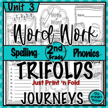 Journeys Grade Two:  Word Work Spelling Trifolds   {Unit THREE}