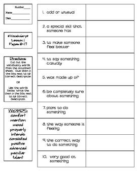 Journeys - HMH © 2014 Grade 4 Lesson 01 Vocabulary Practice