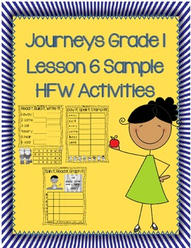 Journeys High Frequency Word Activity FREEBIE SAMPLE Lesso