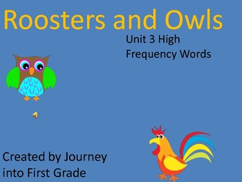 Journeys High Frequency Words Unit 3 (Common Core)