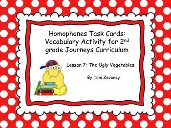 Homophones Task Cards for Journeys Grade 2