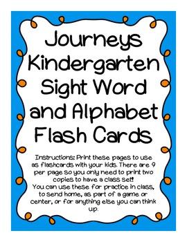Journeys K Sight Word Flash Cards