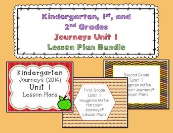 Journeys Kindergarten, 1st, and 2nd Grade UNIT 1 BUNDLE