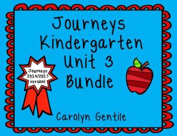 Journeys Kindergarten Bundle Unit 3 2014 Version