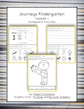 Journeys Kindergarten Lesson 1 Homework