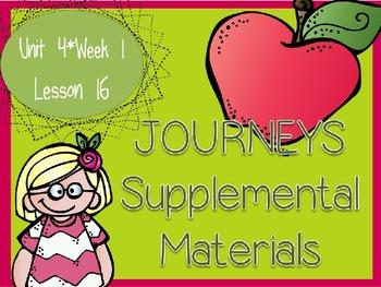 Journeys - Kindergarten Lesson 16 - Unit 4, Week 1 - Suppl