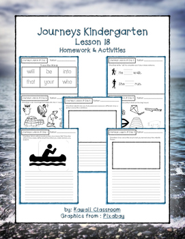 Journeys Kindergarten Lesson 18 Homework & Classwork