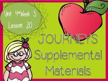Journeys - Kindergarten Lesson 20 - Unit 4, Week 5 - Suppl